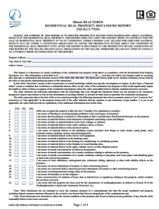 Listing Inspection Disclosure Form